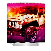 2017 Jeep Unlimited Beast Shower Curtain