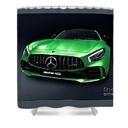 2017 Mercedes Amg Gt R Coupe Sports Car Shower Curtain