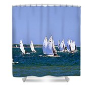 2017 National E-scow Championship Shower Curtain