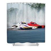 2017 Taree Race Boats 05 Shower Curtain