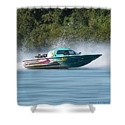 2017 Taree Race Boats 08 Shower Curtain