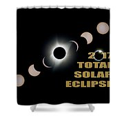2017 Total Solar Eclipse Phases Shower Curtain
