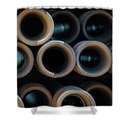 2017_05_midland Tx_drill Pipe Lights 2 Shower Curtain