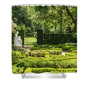 201707040-001 Seated Woman Statue 4x5 Shower Curtain