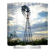2017_08_midland Tx_windmill 2 Shower Curtain