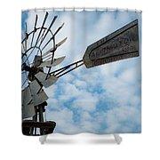 2017_08_midland Tx_windmill 5 Shower Curtain