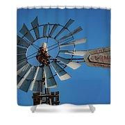 2017_08_midland Tx_windmill 7 Shower Curtain