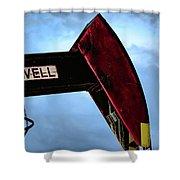 2017_09_midkiff Tx_oil Well Pump Jack Closeup 2 Shower Curtain