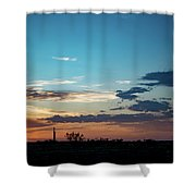 2017_09_midkiff Tx_rigs At Sunset 1 Shower Curtain