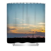 2017_09_midkiff Tx_rigs At Sunset 3 Shower Curtain