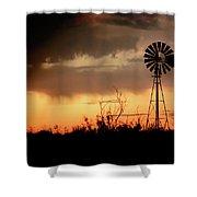 2017_09_midland Tx_windmill 1 Shower Curtain