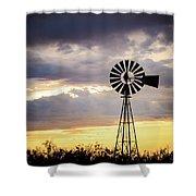 2017_09_midland Tx_windmill 3 Shower Curtain