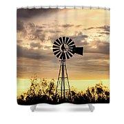 2017_09_midland Tx_windmill 6 Shower Curtain