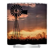 2017_09_midland Tx_windmill 7 Shower Curtain