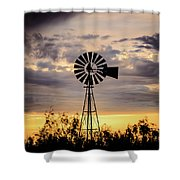 2017_09_midland Tx_windmill 9 Shower Curtain