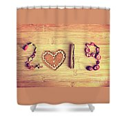 Spices New Year Card Shower Curtain