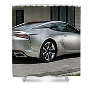 2018 Lexus Lc 500h 4k 3 Shower Curtain