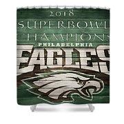 2018 Superbowl Eagles Barn Wall Shower Curtain