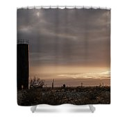 2018_02_pecos Tx_ Oil And Gas Artwork Shower Curtain