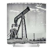 2018_04_orla Texas_broken Pump Jack 1 Shower Curtain