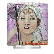 20's Glamour, Parasol Shower Curtain