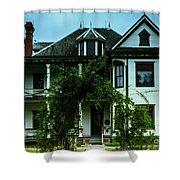 20th Century Mansion Shower Curtain