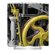 20th Century Mechanical Machinery Sc Shower Curtain