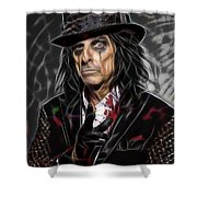 Alice Cooper Collection Shower Curtain