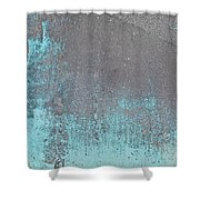 Blue Metal Shower Curtain