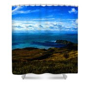 Landscape Graphic Shower Curtain