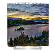 P W Landscape Shower Curtain