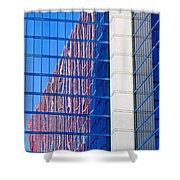 Rio Red And Blue Shower Curtain