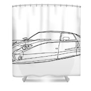2102 Ford Gt Shower Curtain