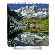 210426 Maroon Bells Reflect  Shower Curtain