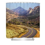 212308 Road To Sheep Creek Canyon Shower Curtain
