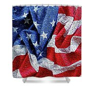 American Flag 40 Shower Curtain