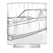 2171 Dodge  Shower Curtain