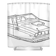 2173 Hemi Cuda Shower Curtain