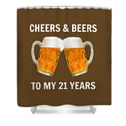 21st Birthday Gifts For Him Her Shower Curtain
