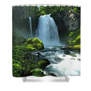 K D Landscape Shower Curtain