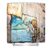 Mural Painting In Saludecio Shower Curtain