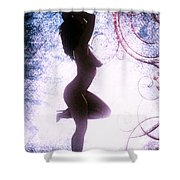 Neemah African American Nude Girl Photograph In Sexy Sensual Col Shower Curtain