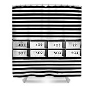 22 Odd One Out Shower Curtain