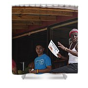 Roatan People Shower Curtain