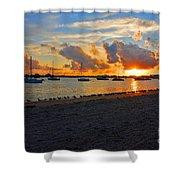 22- Sunset At Seagull Beach Shower Curtain