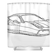 2208 Ferrari Enzo  Shower Curtain