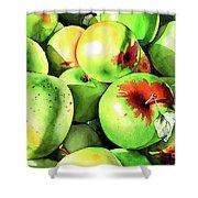 #227 Green Apples Shower Curtain