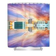 22nd Century Floating Cities Sunrise 01 Shower Curtain