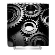 Cogs No10 Shower Curtain