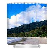 Landscape Paintings Canvas Prints Shower Curtain